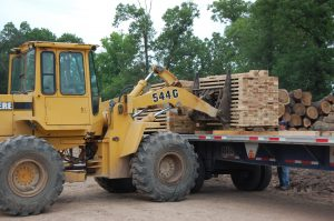Oak Lumber Being Loaded